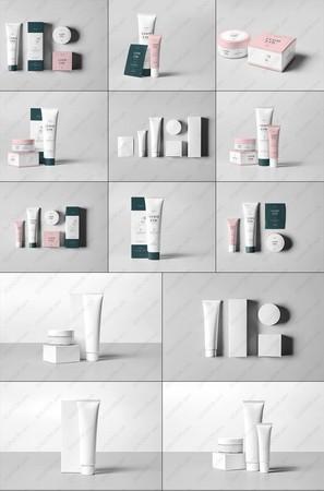 9款化妆品护肤品样机PSD模板素材