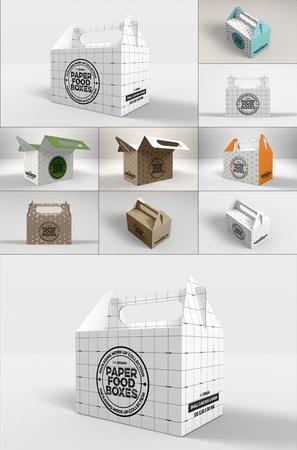4视角高精常用礼品盒包装样机模板PSD素材