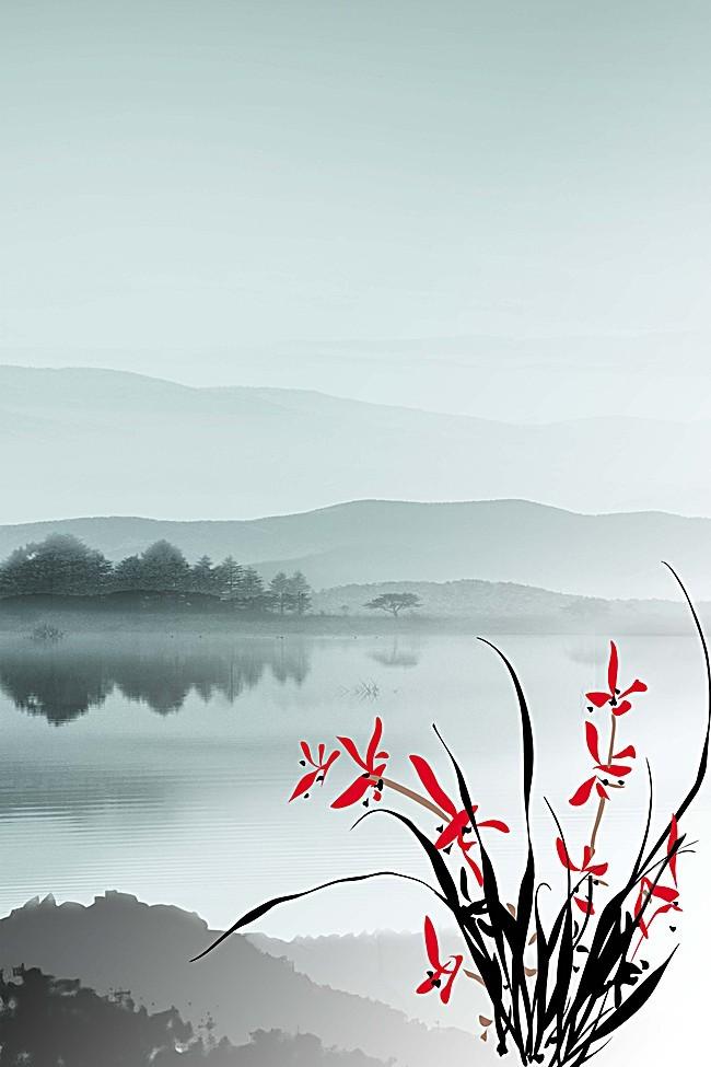 中国风钱包喷剂男友高雅文化情趣企业放兰花情趣背景里图片