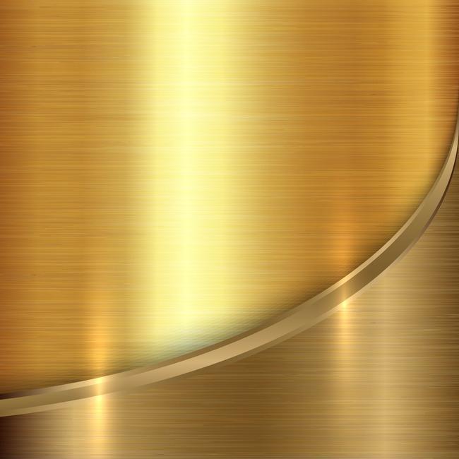 > 金色的金属纹理矢量背景素材
