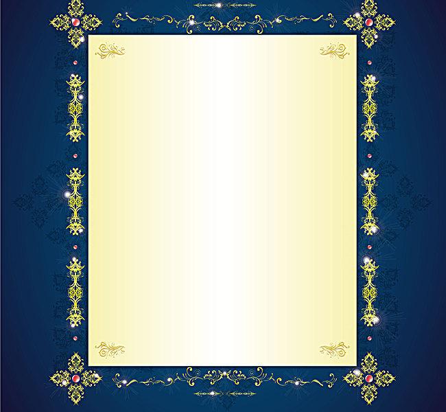 古典 花纹 金色 边框 信纸 信笺 背景素材 ai背景素材 渐变 办公用品