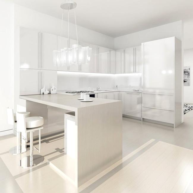 白色清新厨房背景素材