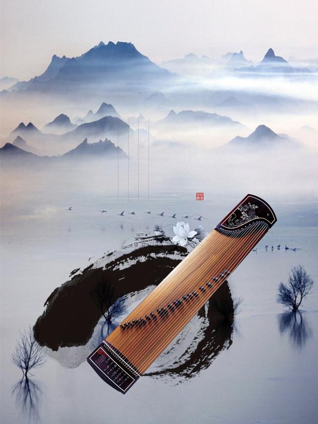 搜图中国提供独家原创古风古筝背景素材下载,此素材图片已被下载1次