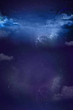 蓝色星空店铺首页模板背景