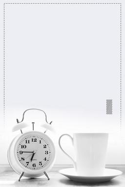 灰色简约时尚珍惜时间背景素材