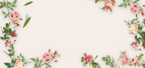 碎花小清新粉色欧式婚礼banner海报