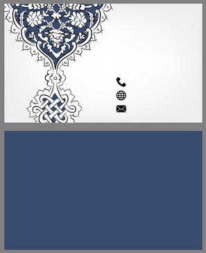 大气欧式花纹名片背景素材