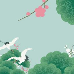 小清新中国风背景