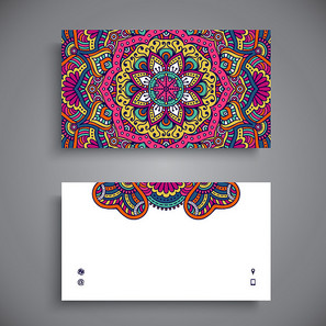 欧式花纹名片卡片背景素材