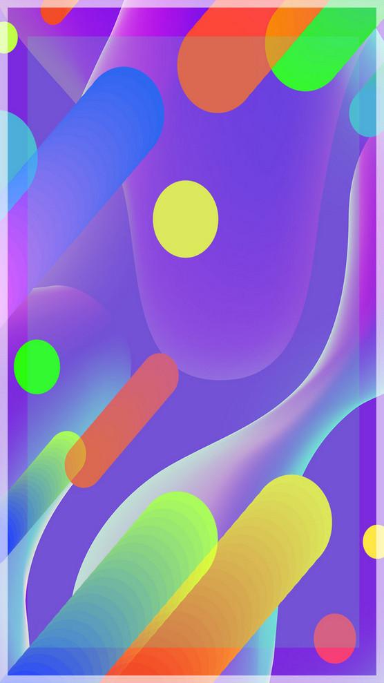 幾何科技藍色背景素材H5背景