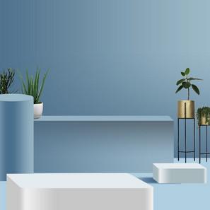 蓝色简约室内主图背景