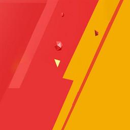 双十一红色几何拼接扁平背景主图