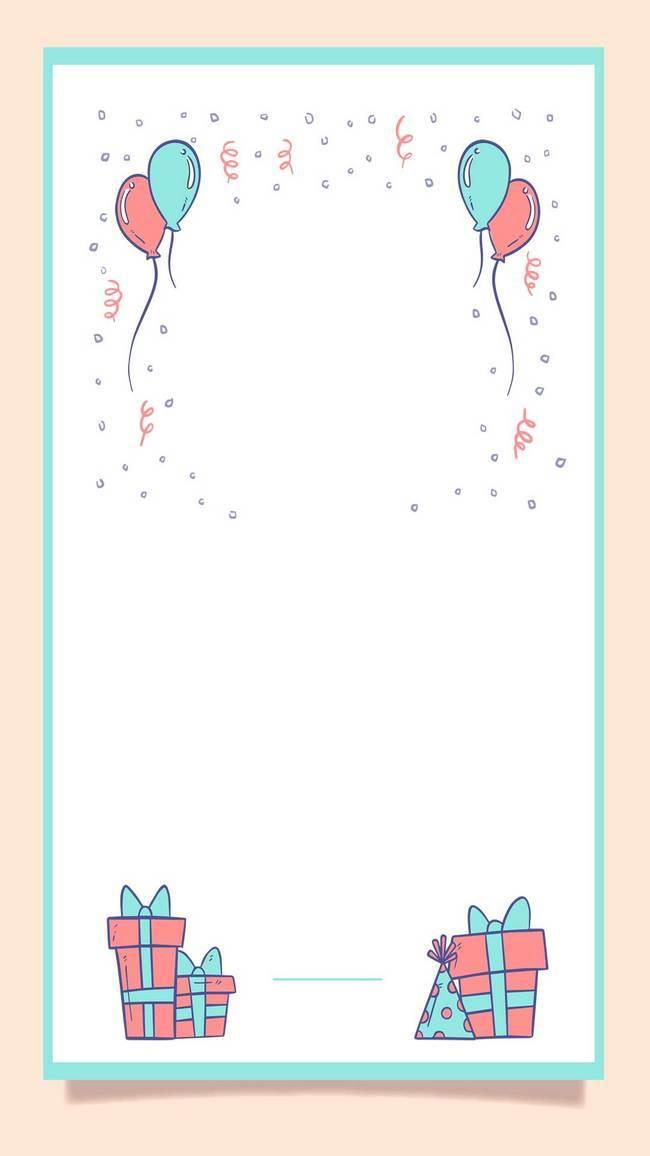 儿童节背景素材   小清新可爱 简约可爱边框 小清新背景素材 生日