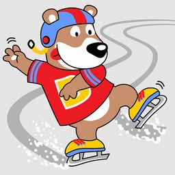 可爱小熊滑冰绘画图集