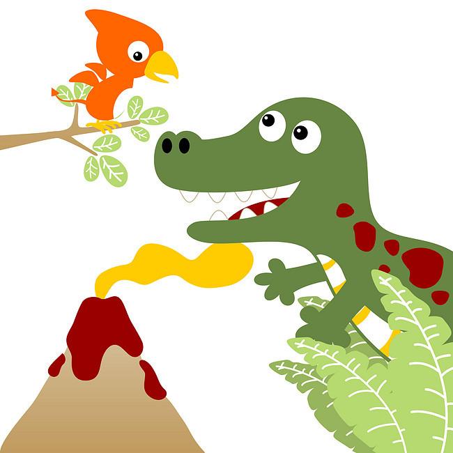 搜图中国提供独家原创恐龙火山卡通可爱动漫壁纸下载,此素材图片已被图片