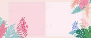 淘宝天猫春季上新手绘花卉植物海报