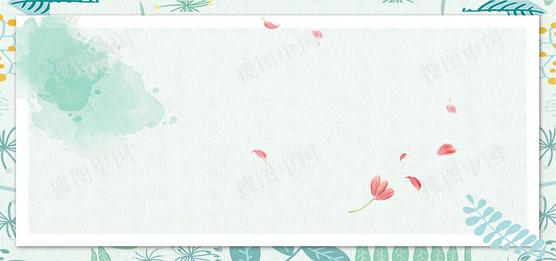 春季上新促銷手繪花朵清新海報背景