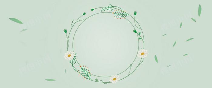 簡約小清新花朵春季上新海報背景