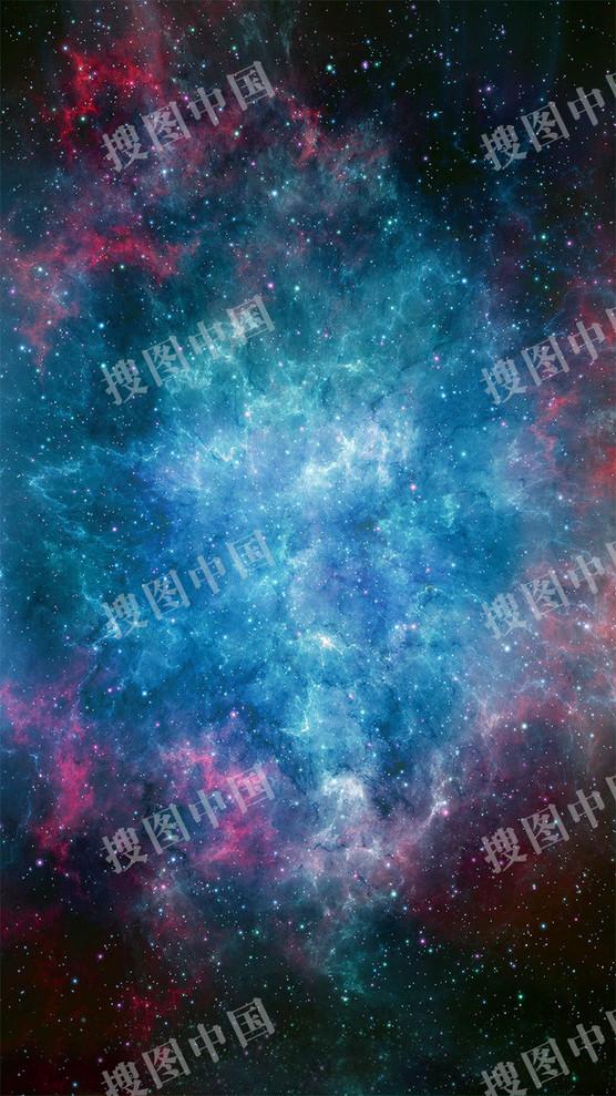夢幻星空科幻H5背景
