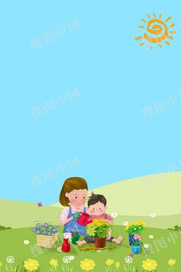 母亲节和妈妈一起种花