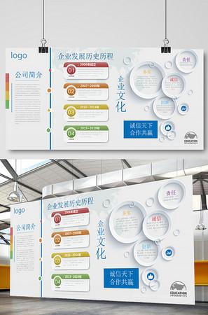 企業文化墻效果圖公司發展歷程時間軸設計