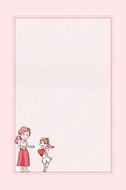 卡通手绘简约母亲节背景