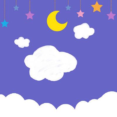 星空夜晚方图背景