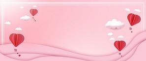 小清新粉色气球背景