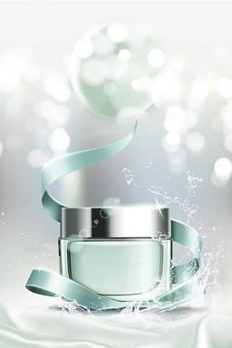 水润护肤美容化妆品背景