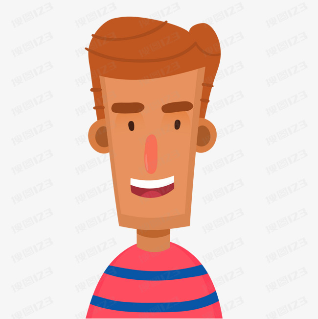 人物设计 男性 用户头像 卡通 矢量图 笑容