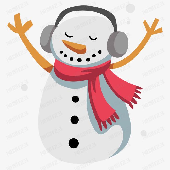 雪人 卡通 圣诞节 角色设计 冬季 矢量图