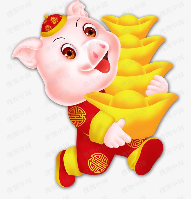 搜图中国提供独家原创 2019年猪年可爱猪动物下载,此素材图片已被下载