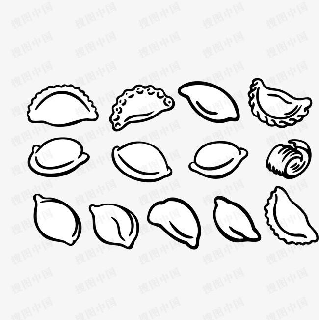 饺子步骤简笔画