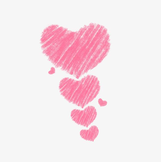 情人节七夕粉色线条爱心