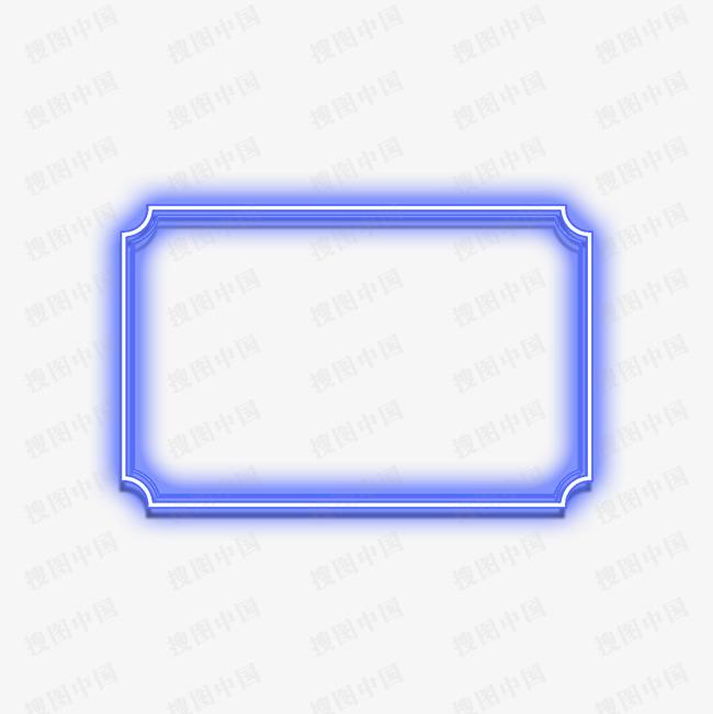电商边框霓虹灯促销图标装饰图案