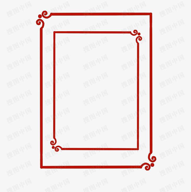 紅色 免摳 古典中國風新年邊框 紅色古典窗戶邊框 唯美中國風窗戶圖片