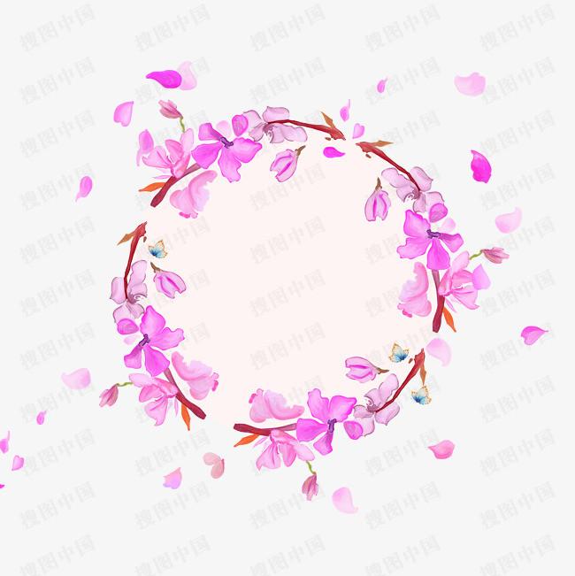 装饰樱花边框素材