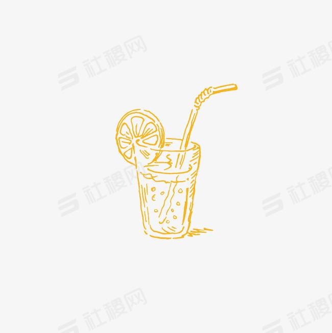 手绘柠檬饮料