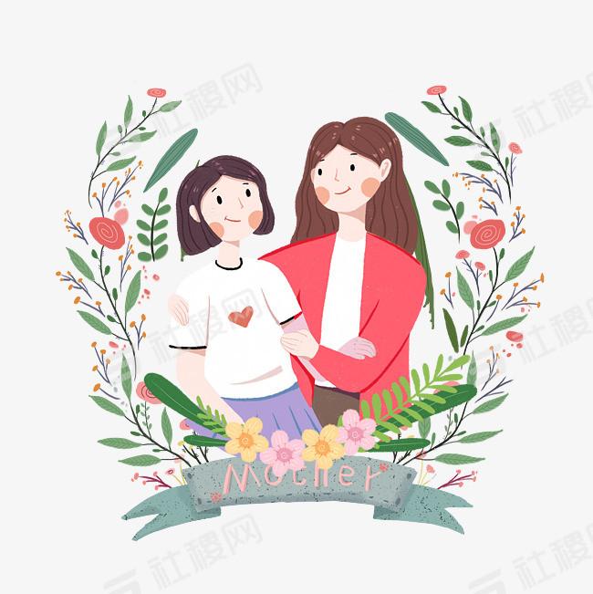 母親節可愛插畫