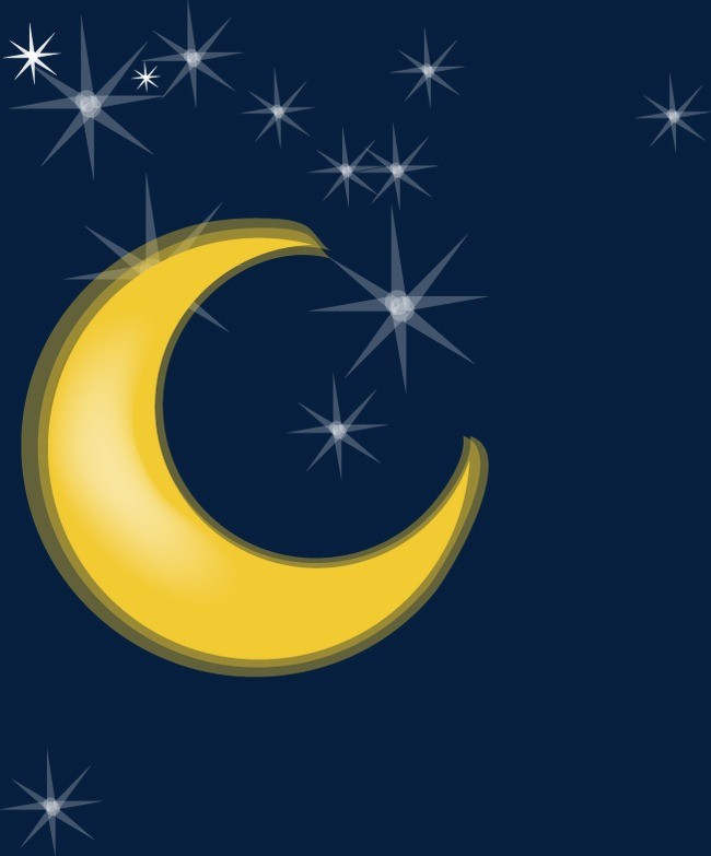 卡通 月亮 星星图片