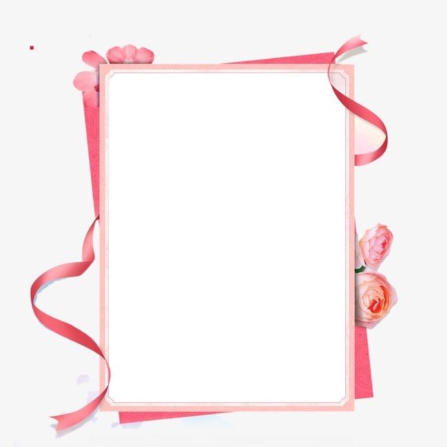 粉色丝带边框图片免抠png素材免费下载,图片编号_搜图