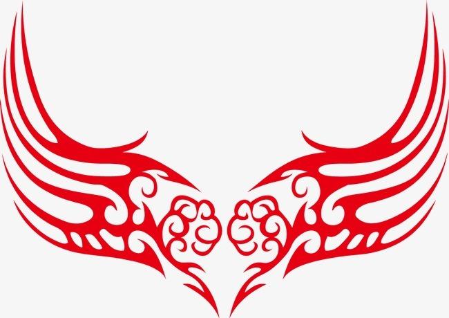 翅膀图腾 矢量图腾 个性图腾 翅膀