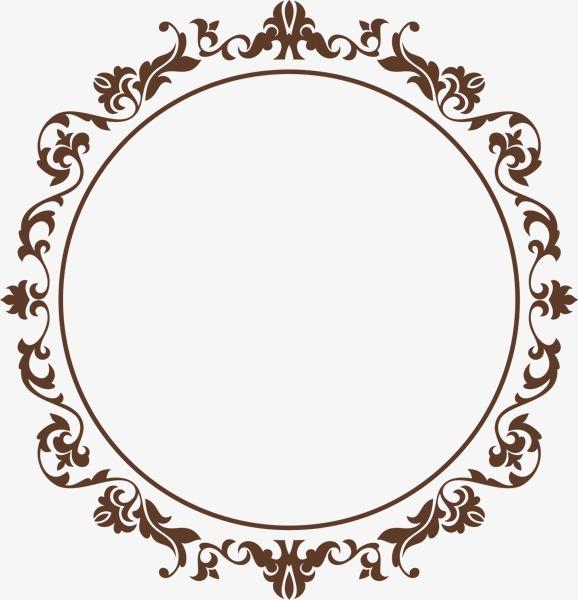 欧式大气圆形边框纹饰图片免抠png素材免费下载,图片