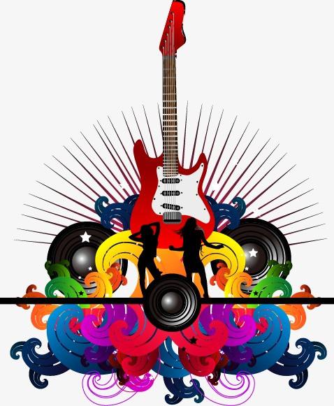 搜图中国 元素 >手绘音乐背景吉他图案  【本作品下载内容为: 手绘