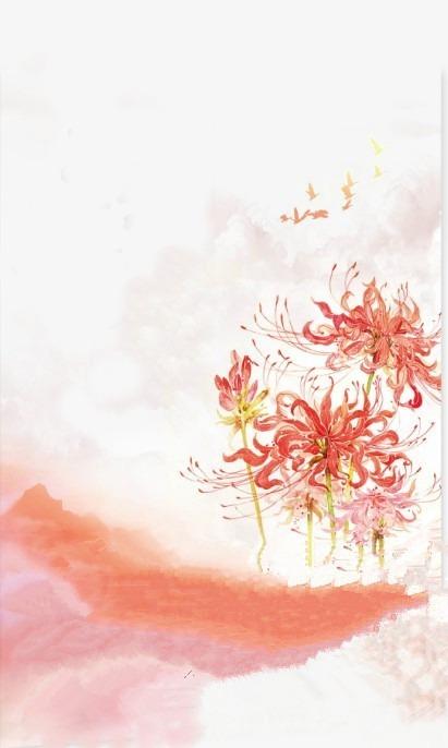 水彩画 花卉 花鸟鱼虫 古代风 风景 落花流水 诗情画意 山清水秀 古风