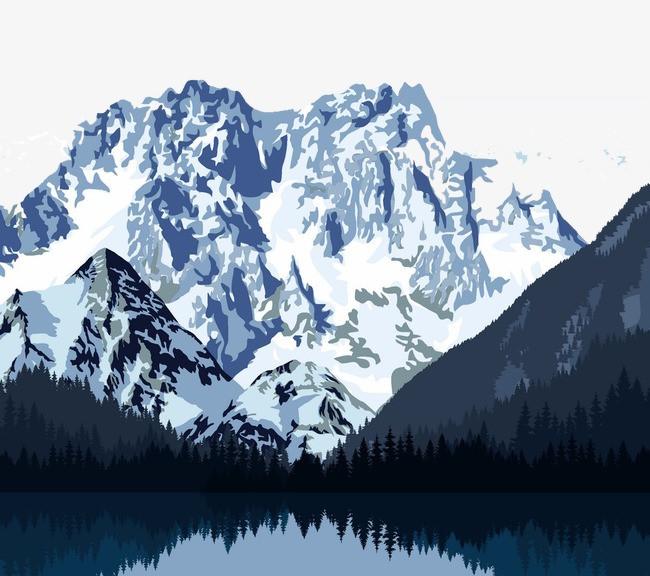搜图中国 元素 >雪山风景  雪山风景 山脉风景 高山 高峰 卡通风景