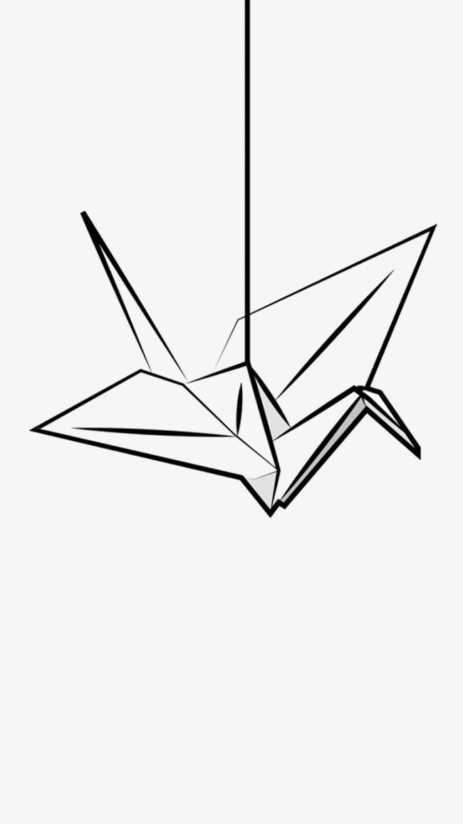 小螃蟹小汤圆千纸鹤简笔画