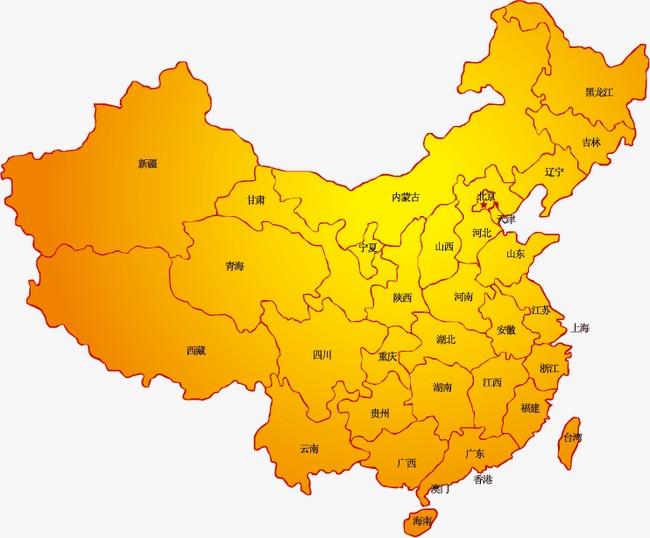 搜图中国 元素 > 中国地图矢量素材  中国地图 中国版图 疆域 黄色