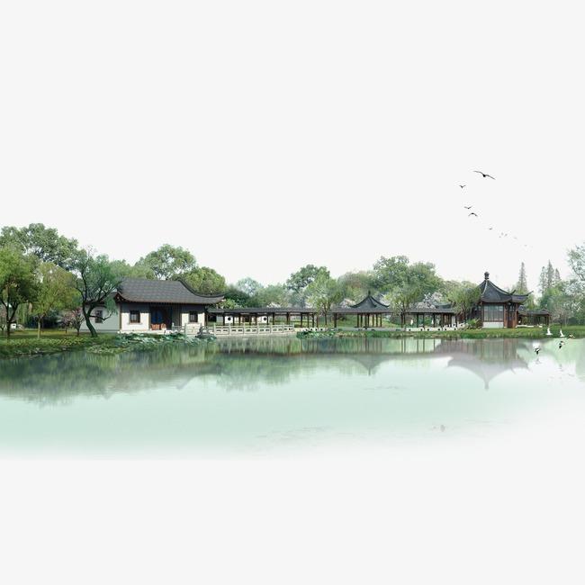 江南水乡图片免抠png素材免费下载,图片编号4203407