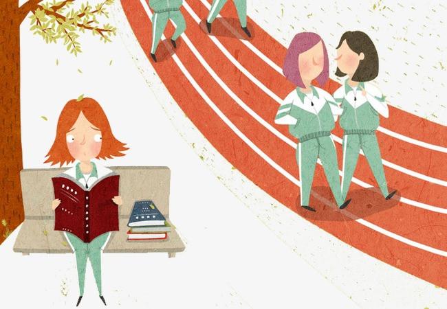 搜图中国 元素 >卡通操场跑道  跑道 学生 学校 卡通 插画 儿童插画